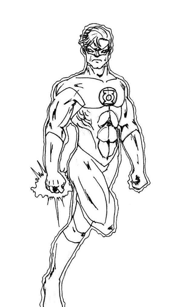 Justice League Superhero Coloring Pages