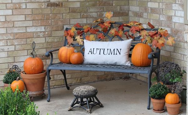Outdoor Fall Decorating Ideas Summer Is Waning Worthing Court This How I Have My Porch Decorated Right Now