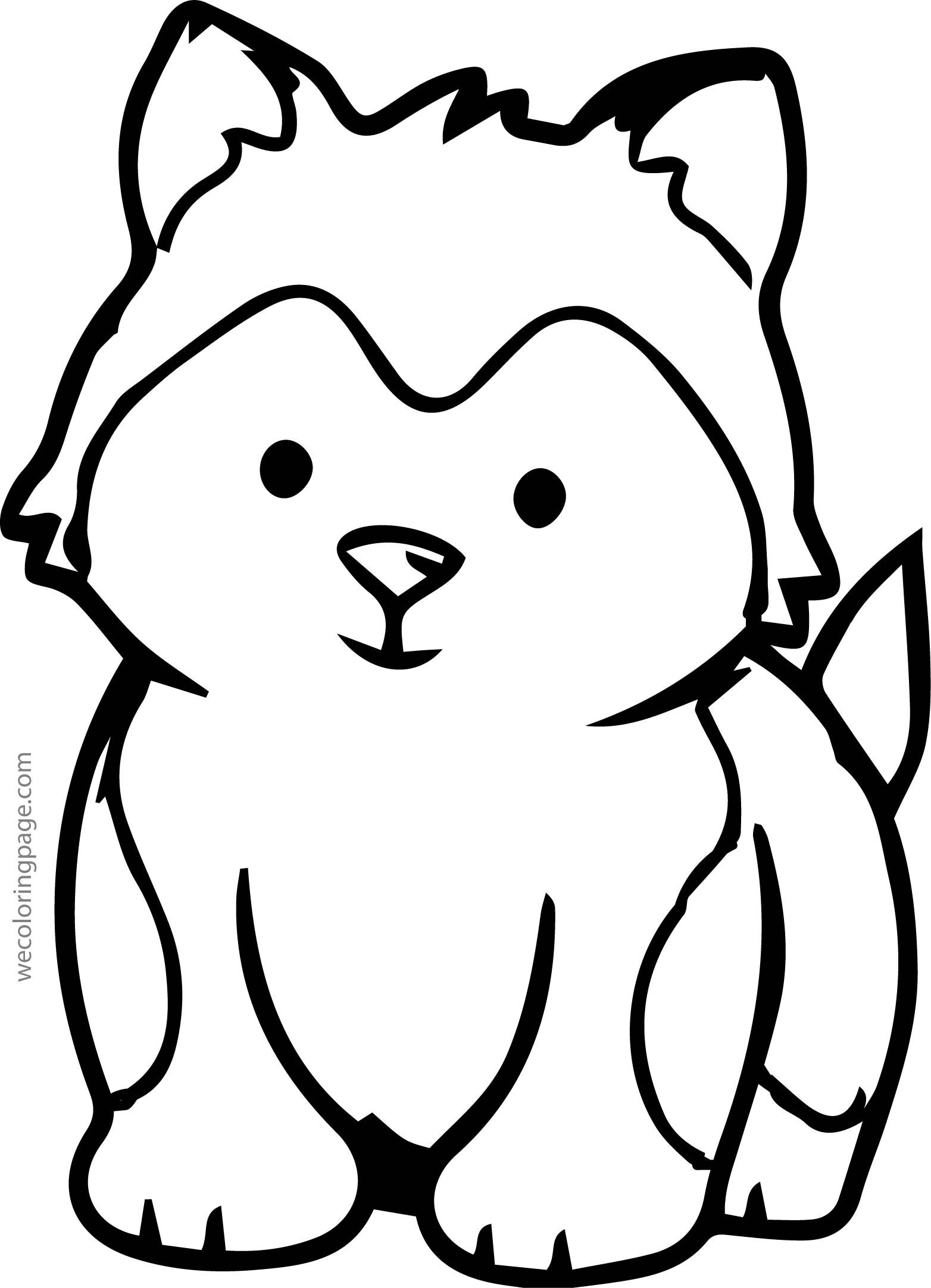 Cool Husky Baby Coloring Page Zoo Animal Coloring Pages Fox