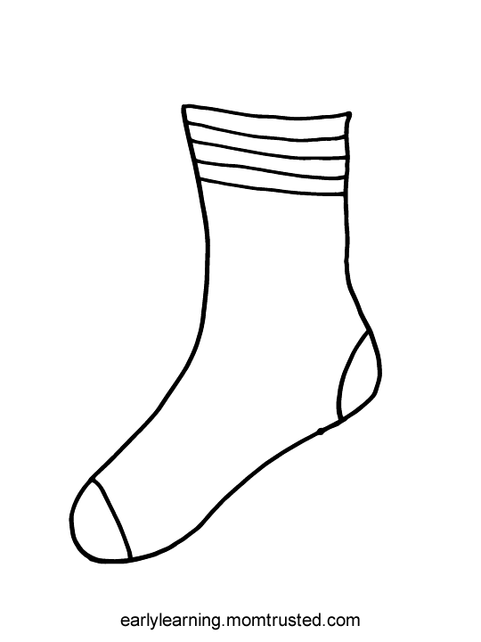 picture of socks coloring pages - photo#21