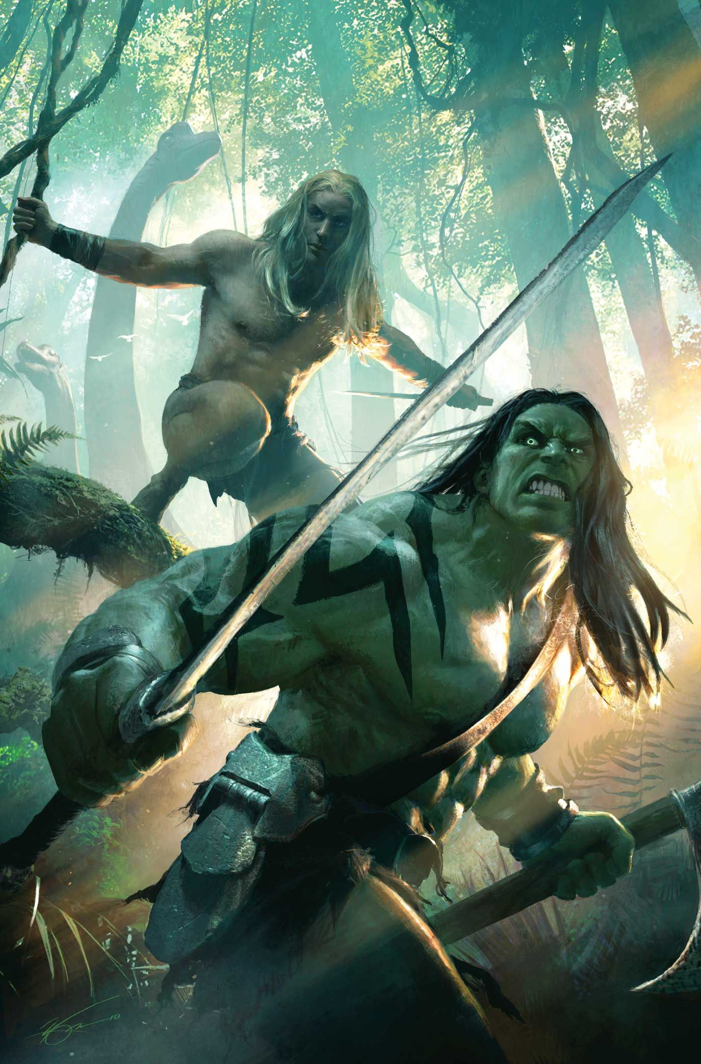 #Skaar #Fan #Art. (SKAAR: KING OF THE SAVAGE LAND #1 Cover) By: MICHAEL KOMARCK. [THANK U 4 PINNING!!]