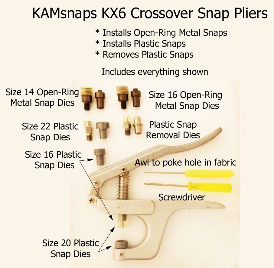 Instructions for KAMsnaps KX Professional Handheld Press   no time