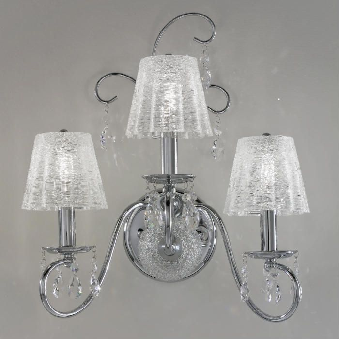 Swarovski Crystal Wall Lamp With Unusual Clear Glass Shades 796 15 For More Information Visit Http Www Italian Lighti Glass Shades Crystal Wall Wall Lamp