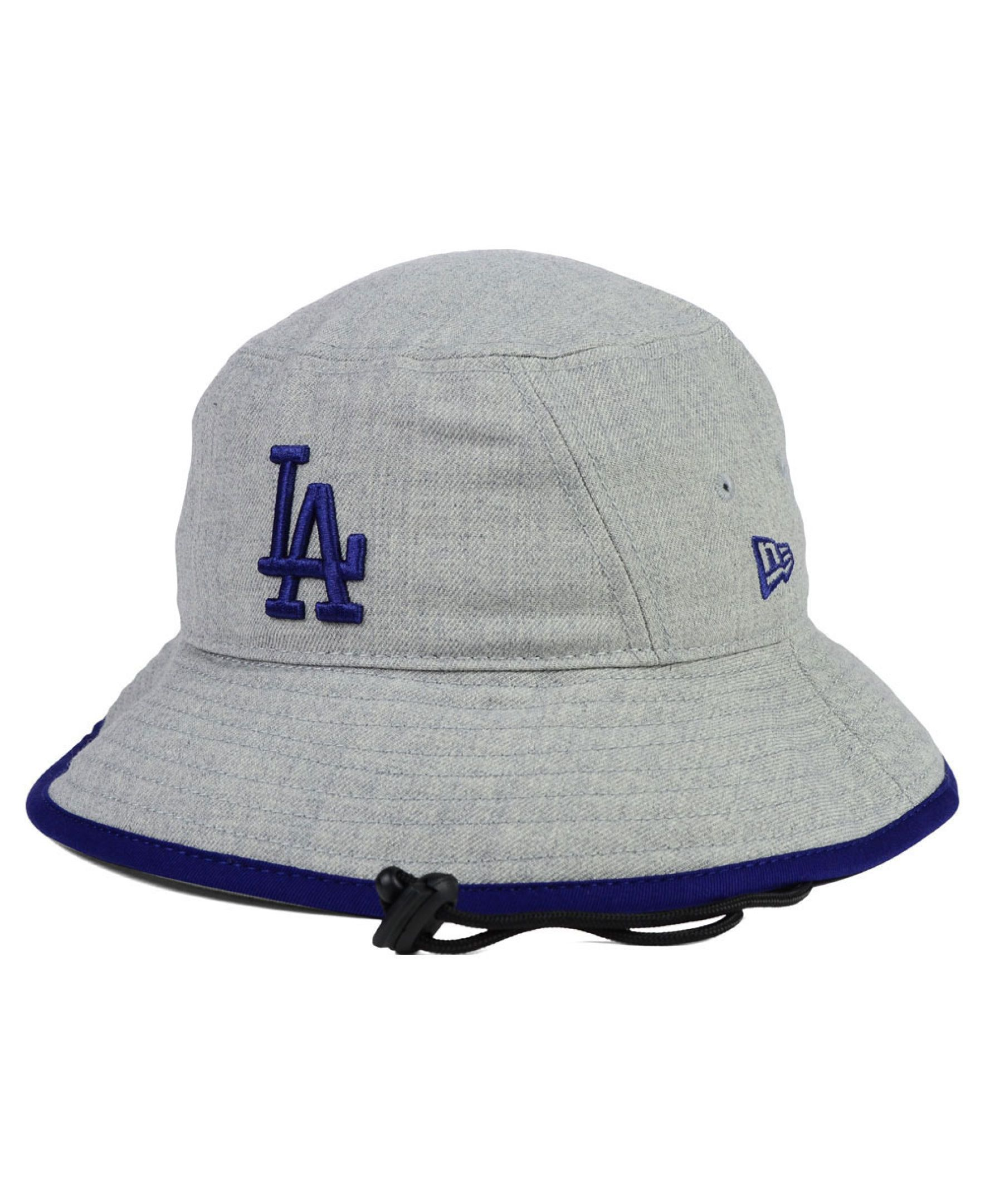 New Era Los Angeles Dodgers Heather Tipped Bucket Hat  2b20890895a
