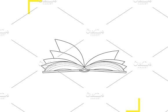 Book Outline Drawing
