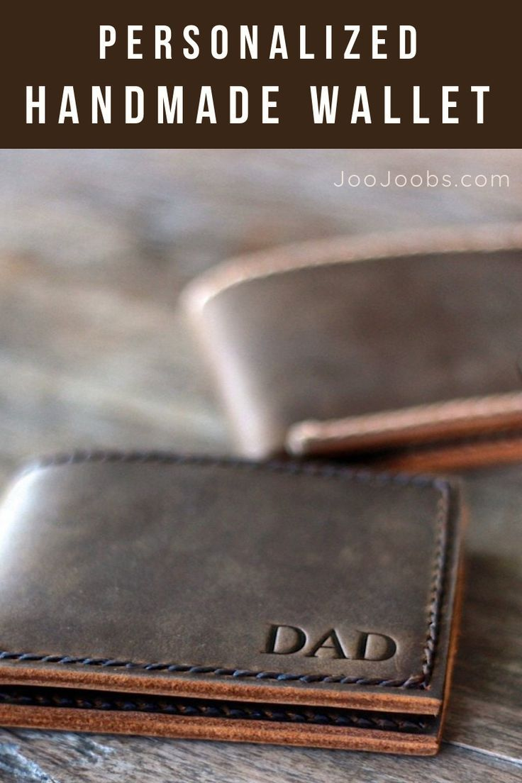 Leather Bifold Wallet Valentines Day In 2019 Diy Gifts
