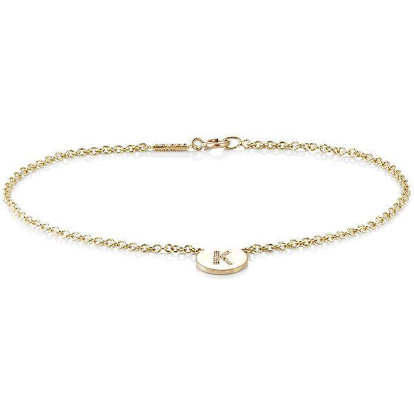 Jennifer Meyer Womens Initial K Disc Bracelet cRzD4e1tEE
