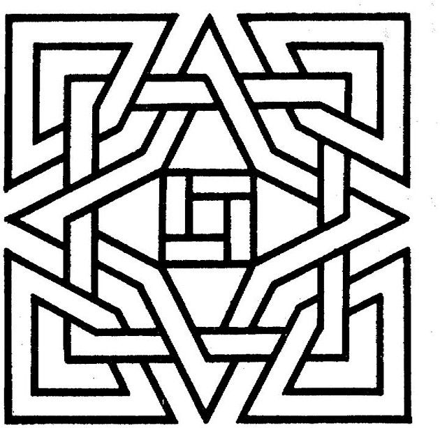 geometric coloring page # 10