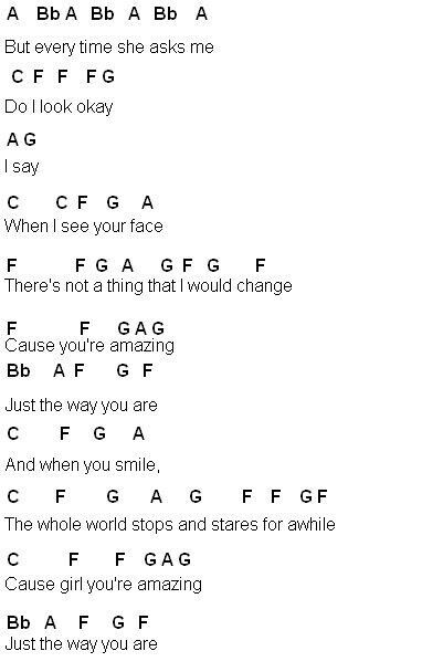 Just The Way You Are Bruno Mars With Images Flute Sheet Music