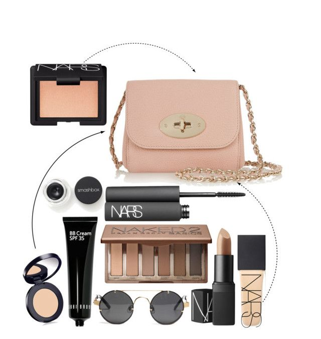 """""""makeup purse"""" by junosoffspring ❤ liked on Polyvore featuring beauty, NARS Cosmetics, Mulberry, Bobbi Brown Cosmetics, Estée Lauder, Urban Decay and Smashbox"""