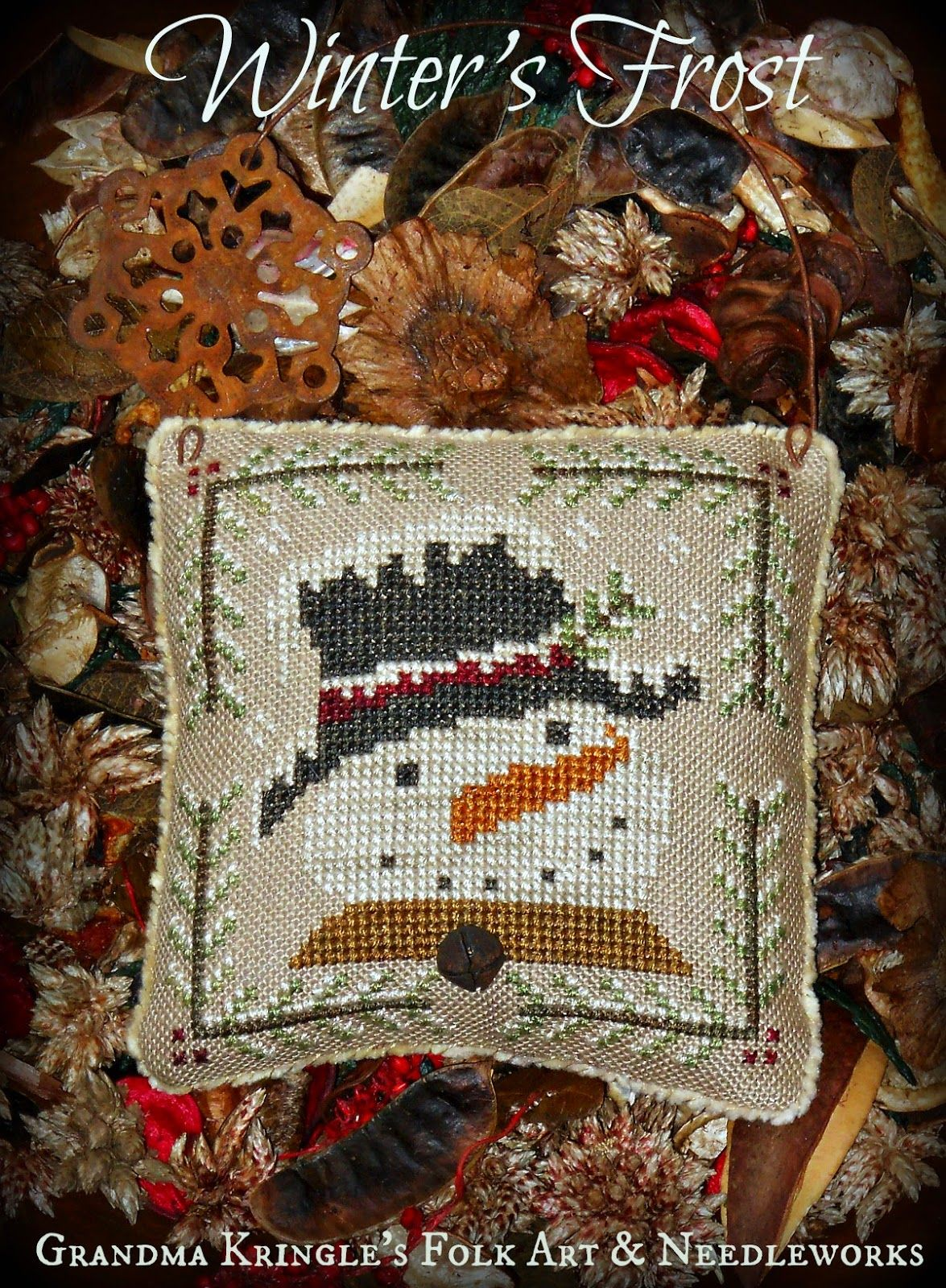 Deep Winter DIY Counted Cross Stitch Patterns Needlework embroidery