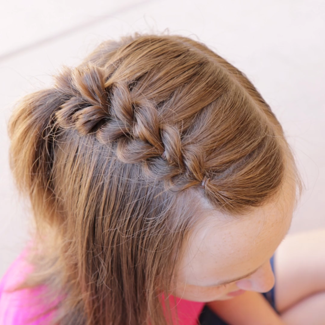 How to do a 2 Strand Pull-Through Accent Braid by Erin Balogh -   18 dressy hairstyles For Kids ideas