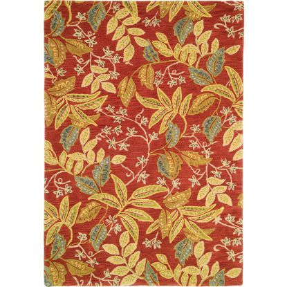 Cyprus Rug In Poppy Floral Pattern Tufted Rugs