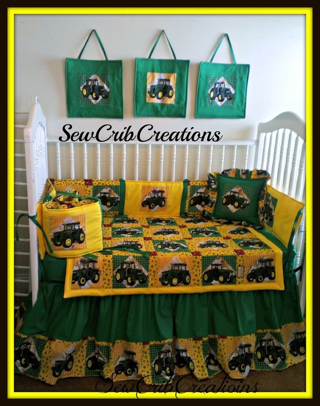 John Deere Crib Bedding Set   SewCribCreations Nursery. John Deere bedroom ideas       John Deere Crib Bedding Set