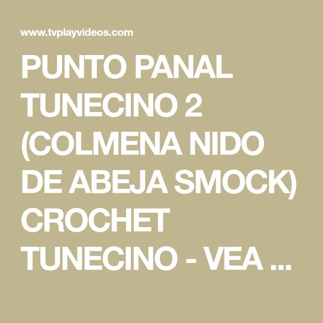 PUNTO PANAL TUNECINO 2 (COLMENA NIDO DE ABEJA SMOCK) CROCHET ...