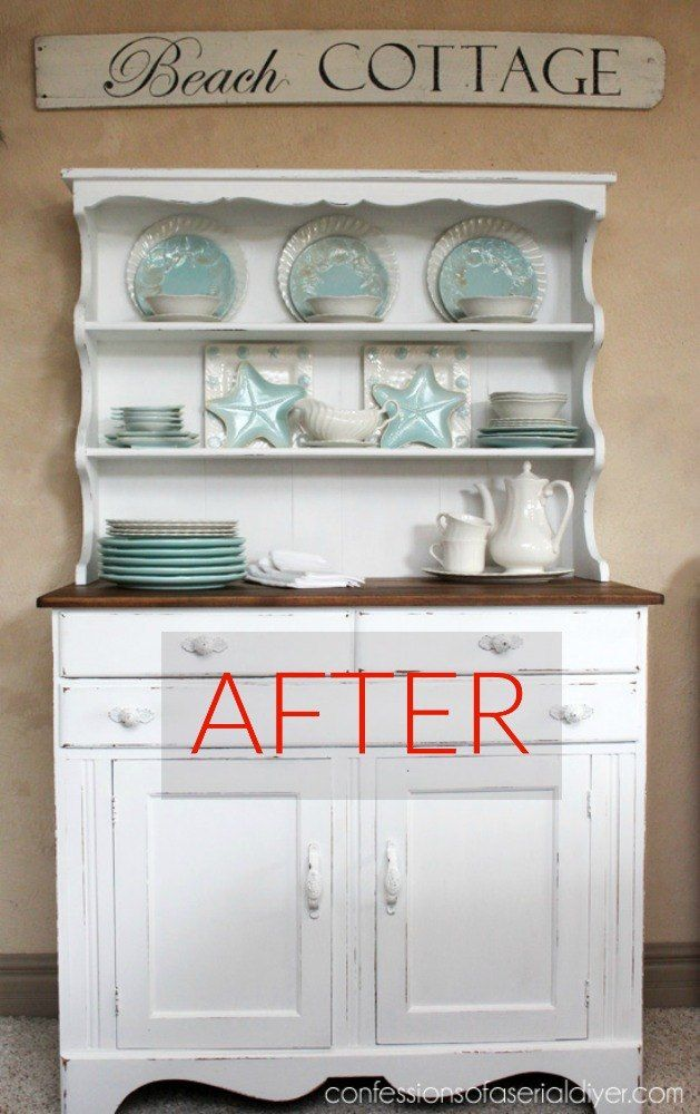 S 8 Hutch Makeovers We Can T Stop Looking at Painted Furniture