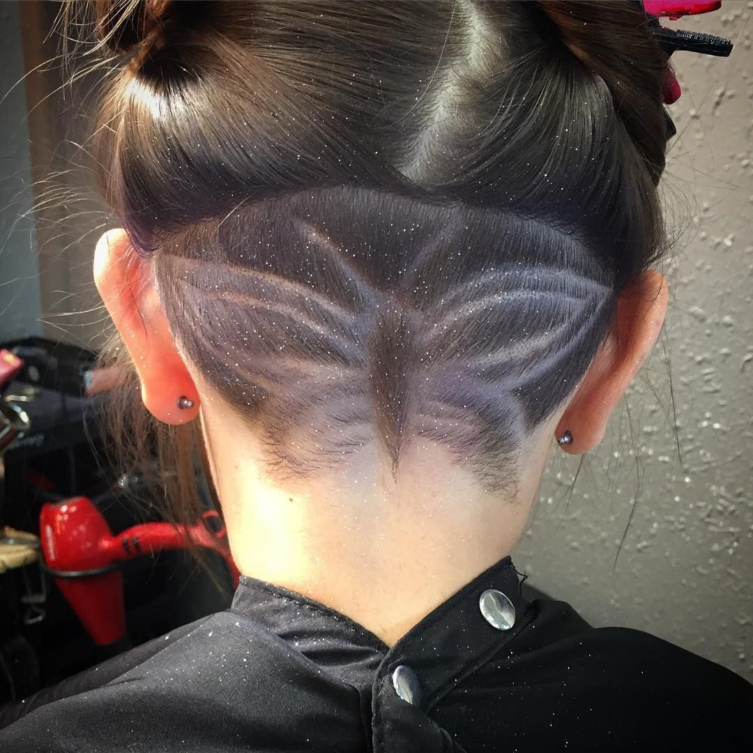 #napeshave #undercut #butterfly