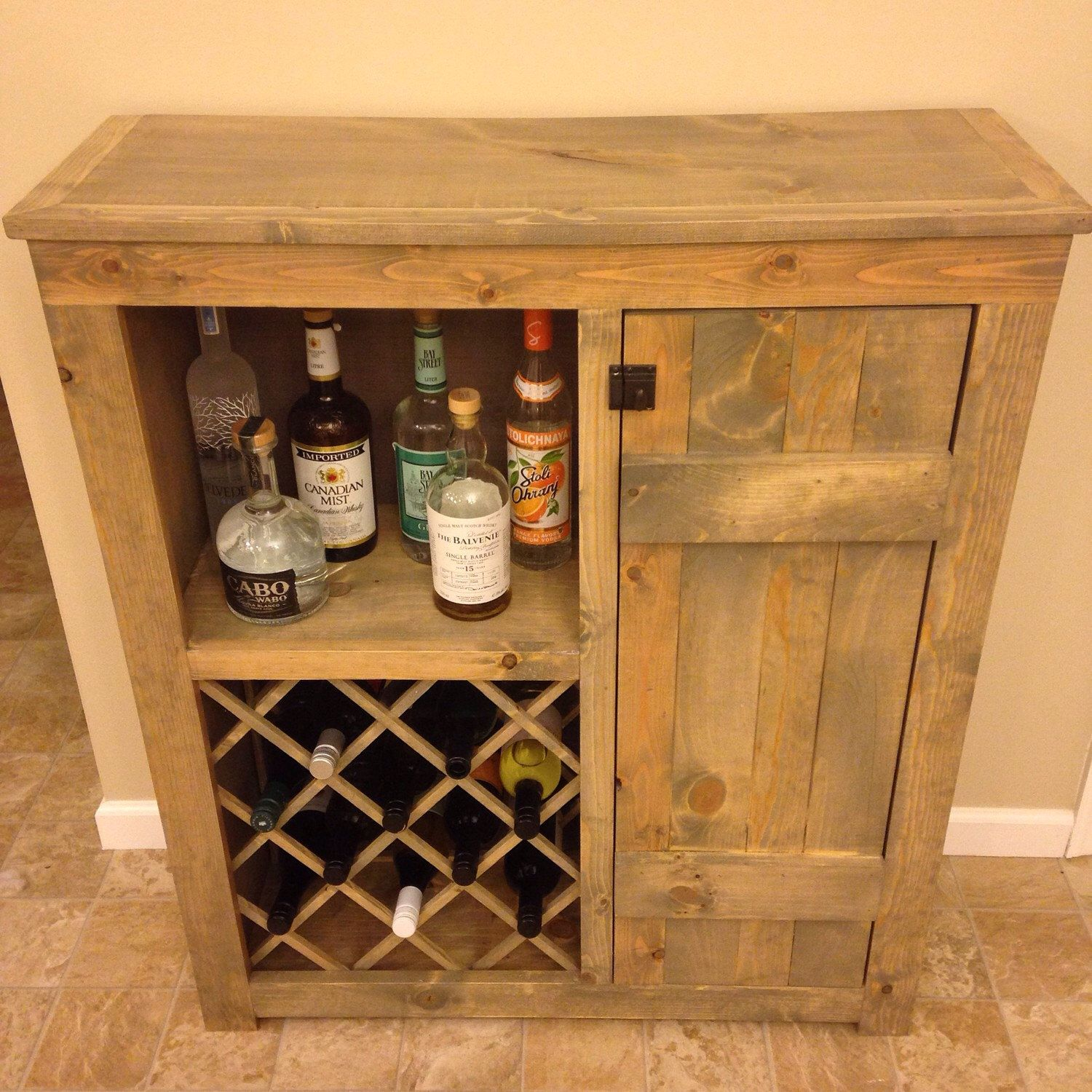 Rustic Wine Bar Cabinet By Midatlanticrustic On Etsy Https Www