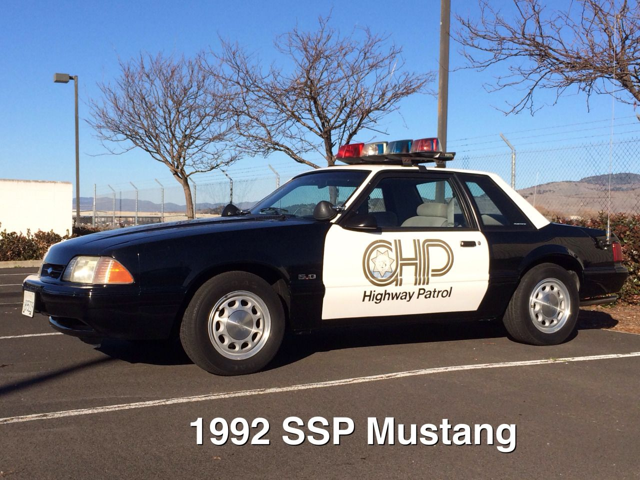 1992 ssp ford mustang with test door logo