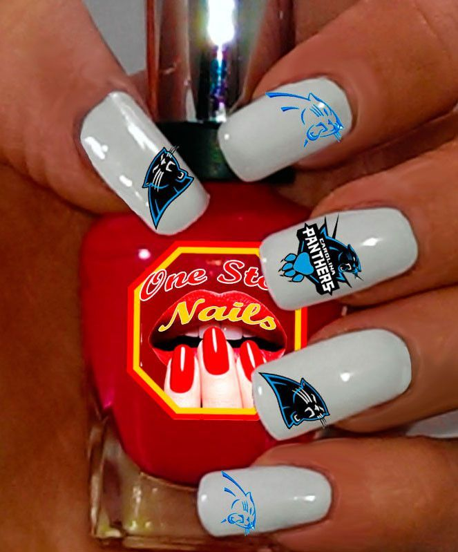 Carolina Panthers Waterslide Nail Decals NFL-CP5-2-37 | Nail decals ...
