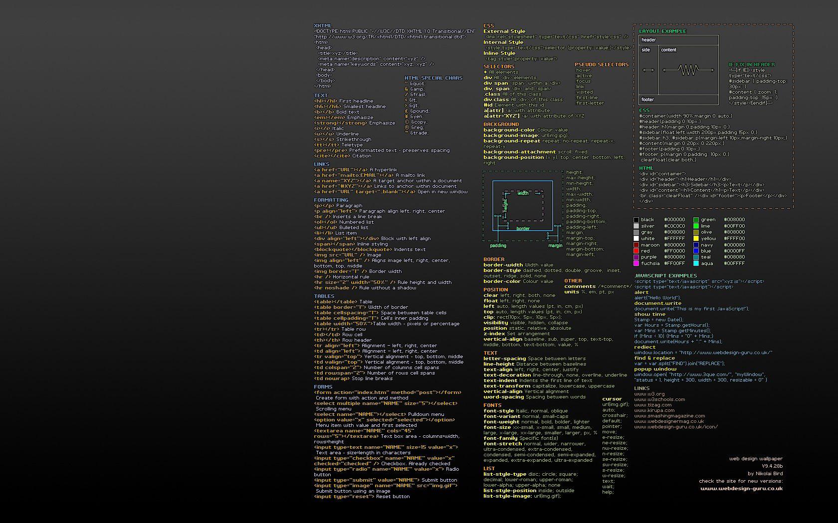 Developer wallpaper HTML, CSS & Javascript Pinterest