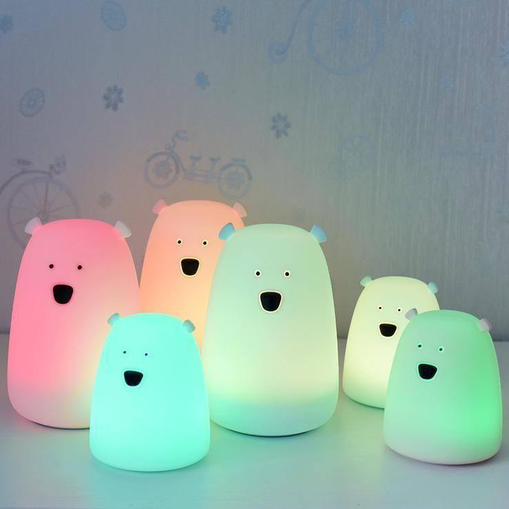 Bear Tap Touch Led Night Light Night Light Kids Led Night Lamp Bedroom Night Light