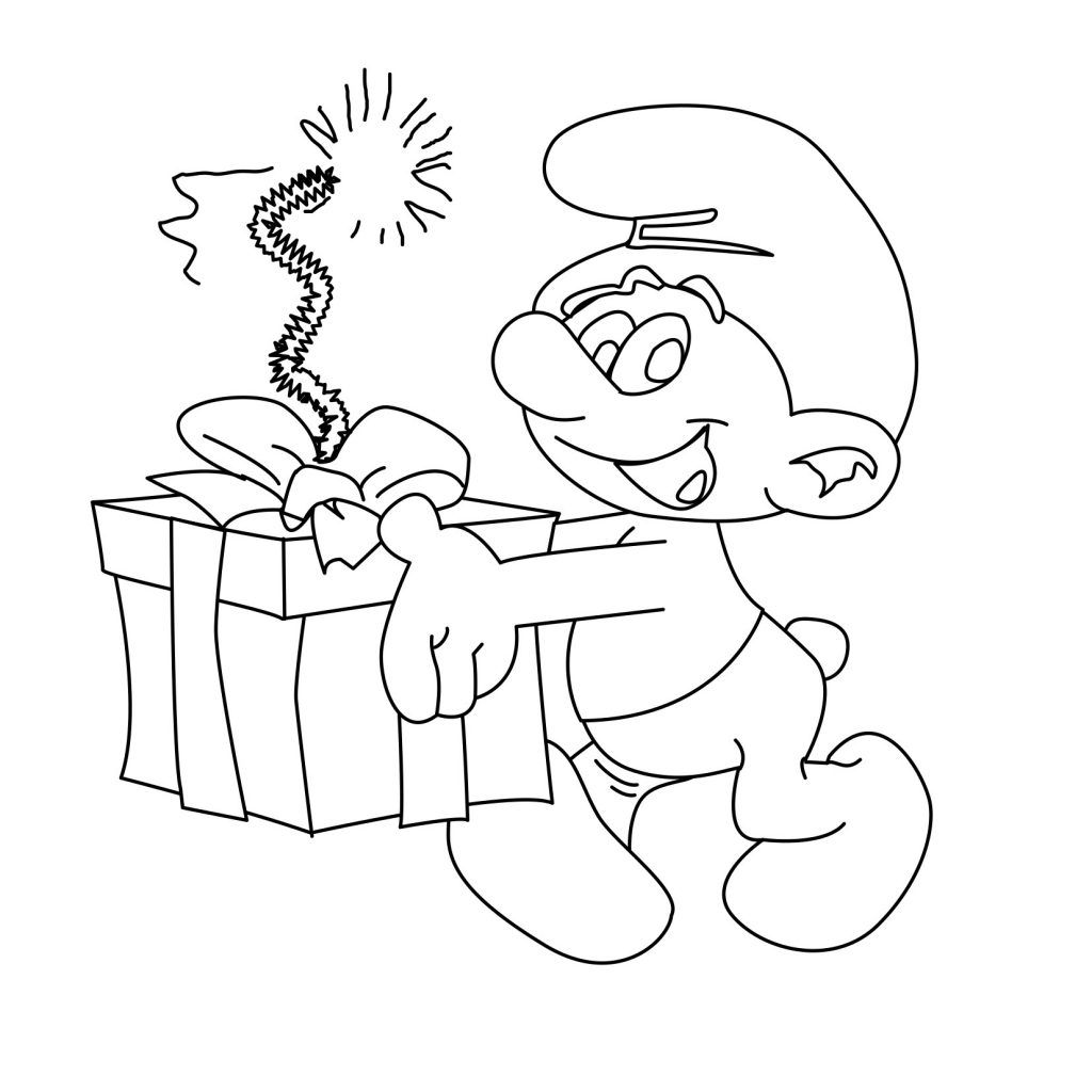 Free Printable Smurf Coloring Pages For Kids Birthday Coloring Pages Cartoon Coloring Pages Coloring Pages