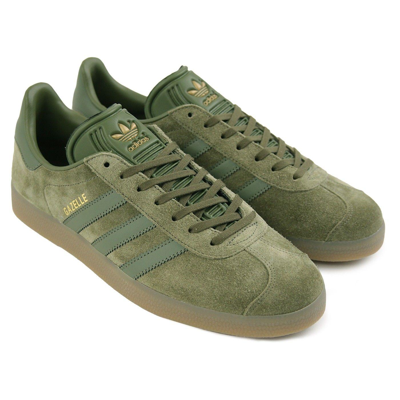 Zapatos gacela en OLIVA OLIVA OLIVA de carga carga / Adidas / / Gum 4 por