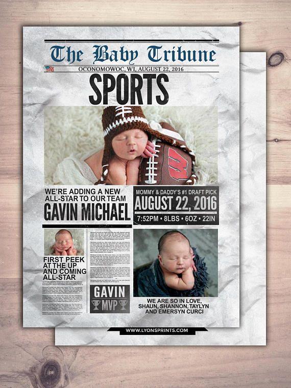 newspaper birth announcement