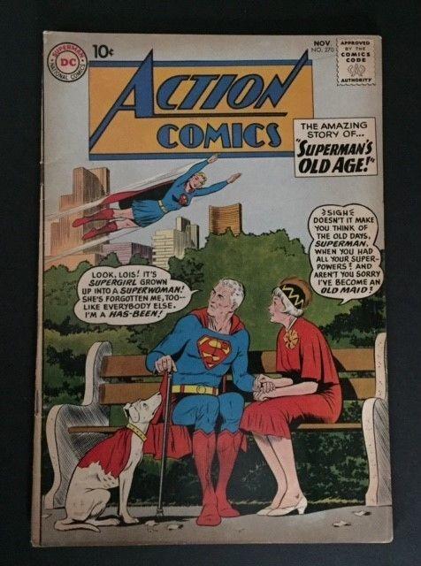 Rare Vintage Dc Action Comics Superman 270 Nov 1960 Silver Age National 10 Cent Dc Comics Classic Comics Comic Covers