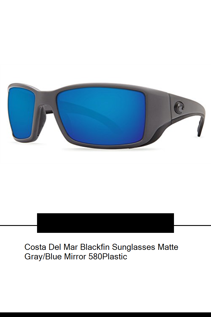 444ccb150a5 Costa Del Mar Blackfin Sunglasses Matte Gray Blue Mirror 580Plastic ...