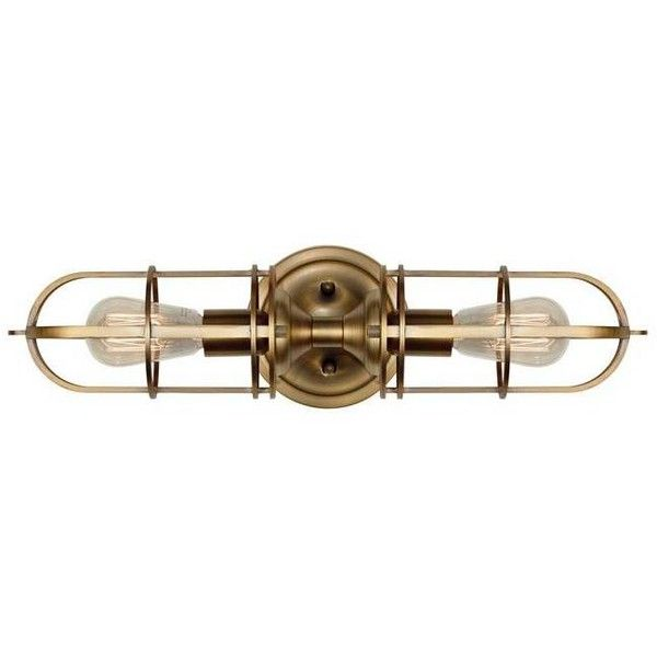 Feiss Urban Renewal 2 Light Sconce Dark Antique Brass By ($185) ❤ liked on Polyvore featuring home, lighting, wall lights, wall sconces, feiss lighting, antique brass sconce, antique brass wall lights, feiss and urban lights