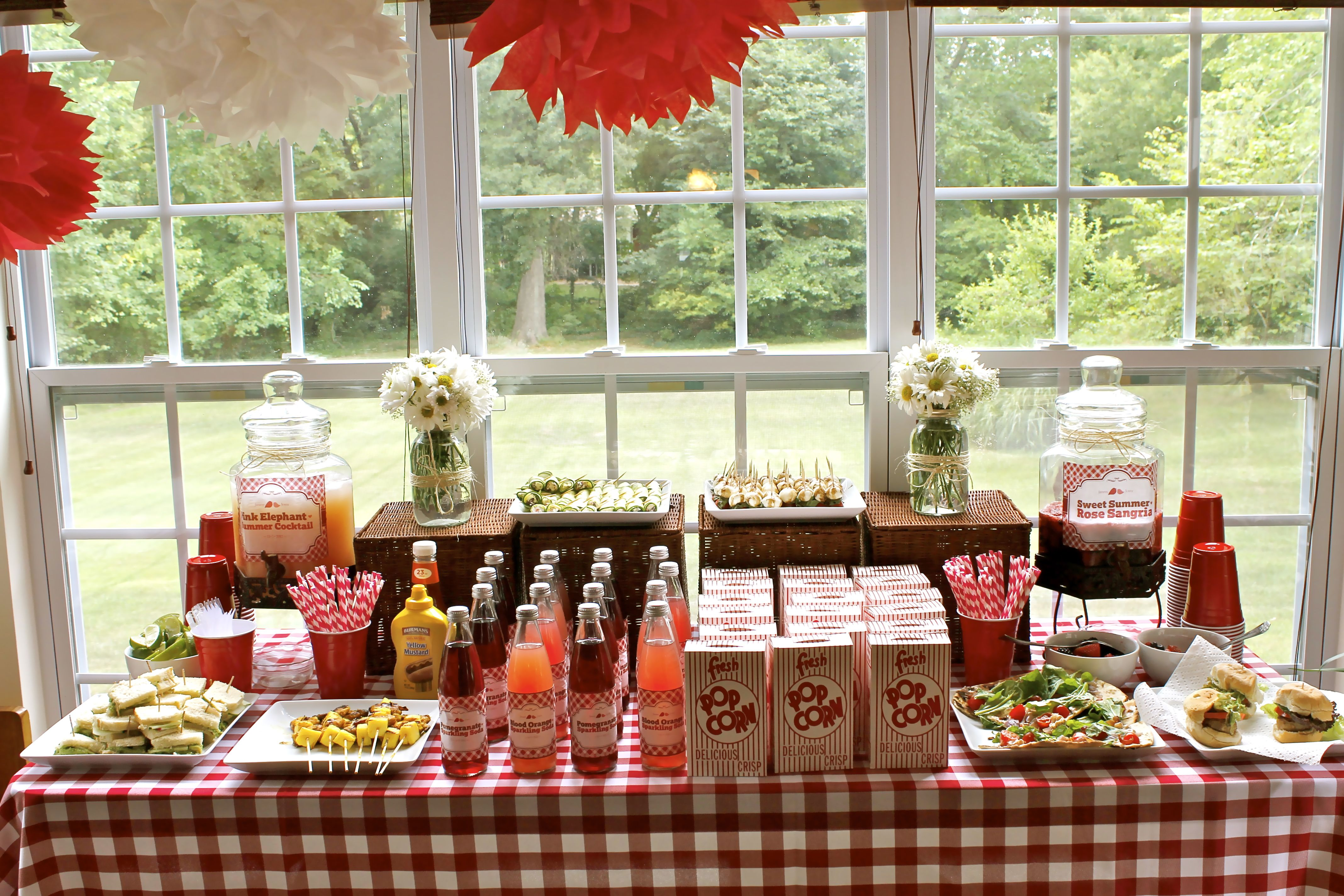 Picnic Themed Decorations Bridal Shower Country Theme Table Layout Bridal Shower