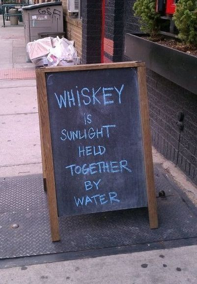 Whiskey Is Sunlight Sign