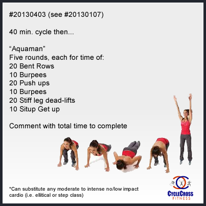 Love and Primal: Workout of the Day. Consult your physician before beginning an exercise program. If you have pain or difficulty, stop and consult your healthcare provider. #cycle #burpee