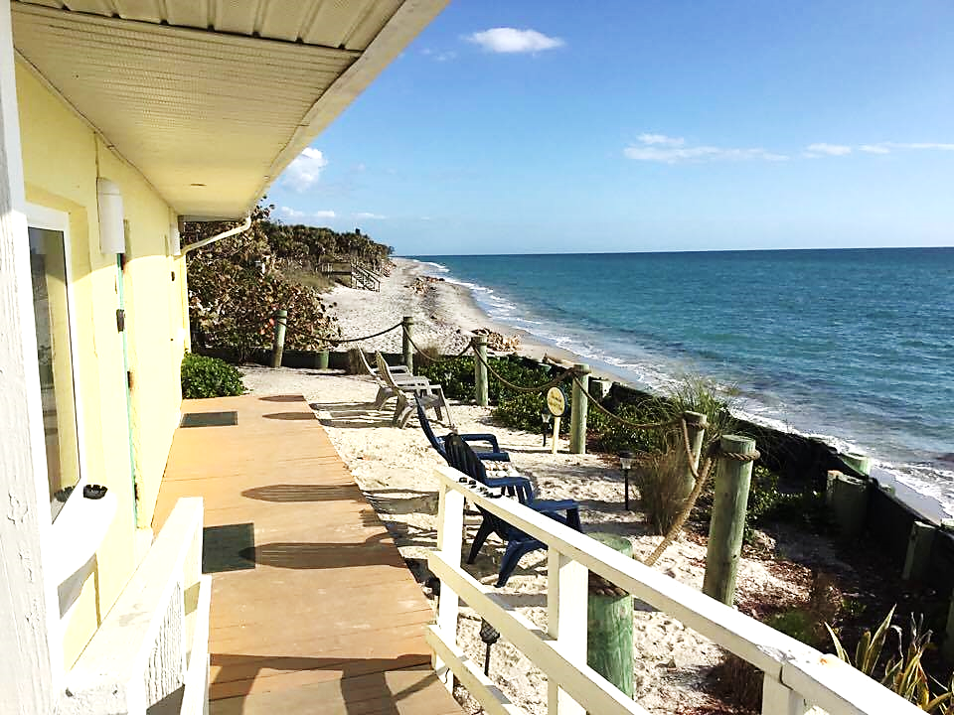 Our front patio and spot on Manasota Key Florida ...