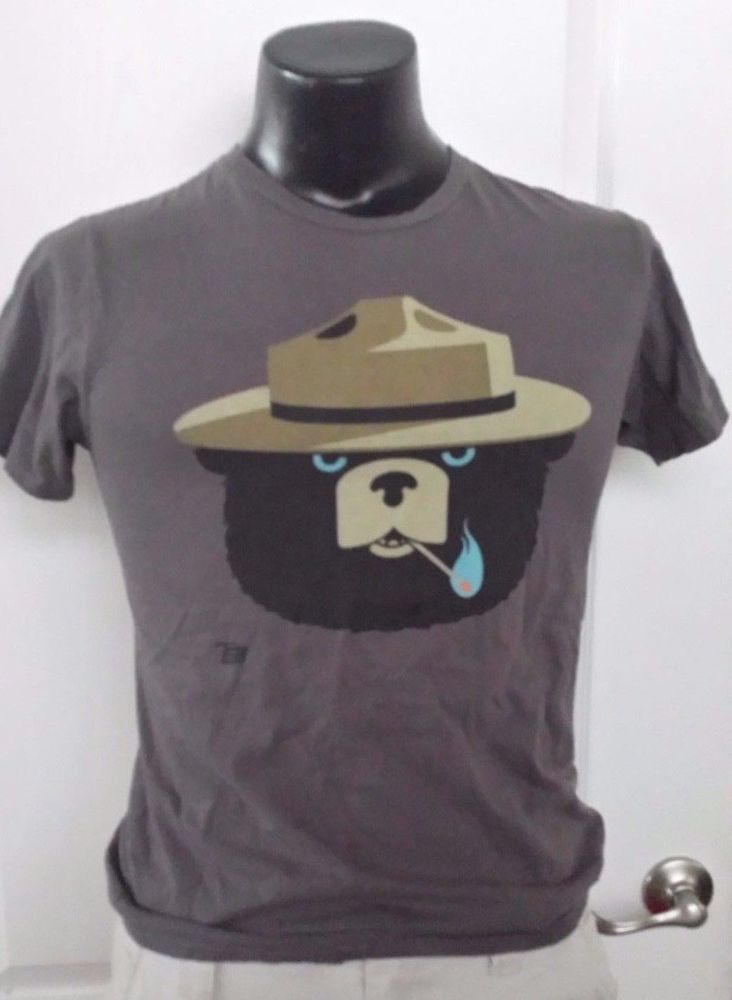 00b93f25f39 AMES BROS T SHIRT Men s Smokey the Bear with Lit Match FIRE Small Rare Retro   AmesBros  GraphicTee