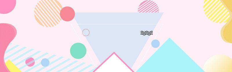 Cute Style Woman Geometric Background Desain Desain Logo Latar Belakang