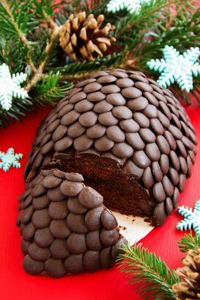 Weihnachts-Kuchen Tannenzapfen