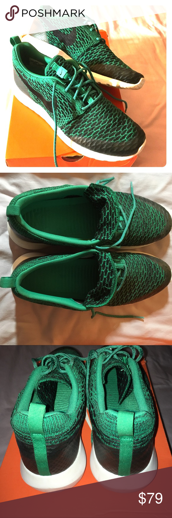 fb3671004468 ☘️NIKE Roshe One NM Flyknit Lucid Green Men 10 EUC Awesomely comfortable Nike  Flyknit sneaker. Very clean only worn a couple times. Men s size 10 or ...
