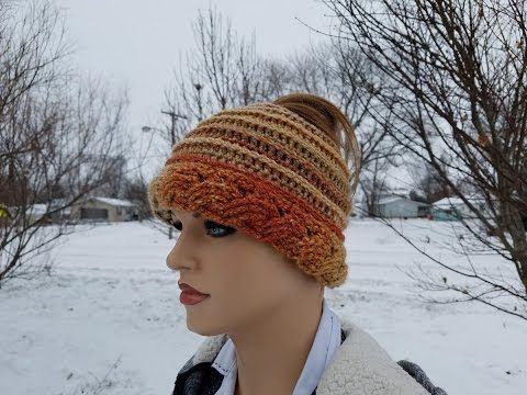 d779335d40a ... wholesale crochet how to crochet cable ribbed messy bun hat beanie  tutorial 358 learn crochet youtube sweden loom knit newsboy ...