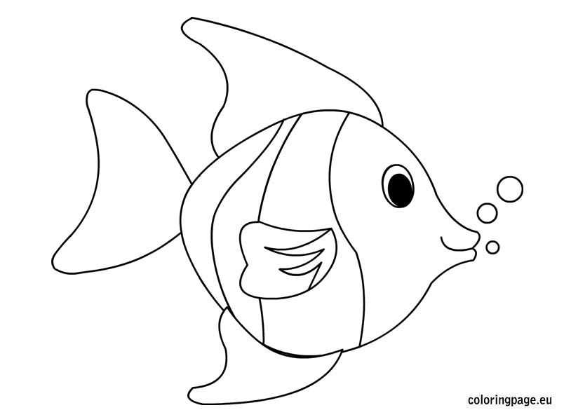 Tropical Fish Coloring Page   Coloring Page ~maybe Print And Use As A  Template For