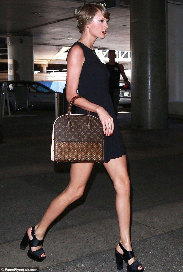 High Flyers Taylor S Louis Vuitton X Louboutin Tote Bag Platform Sandals
