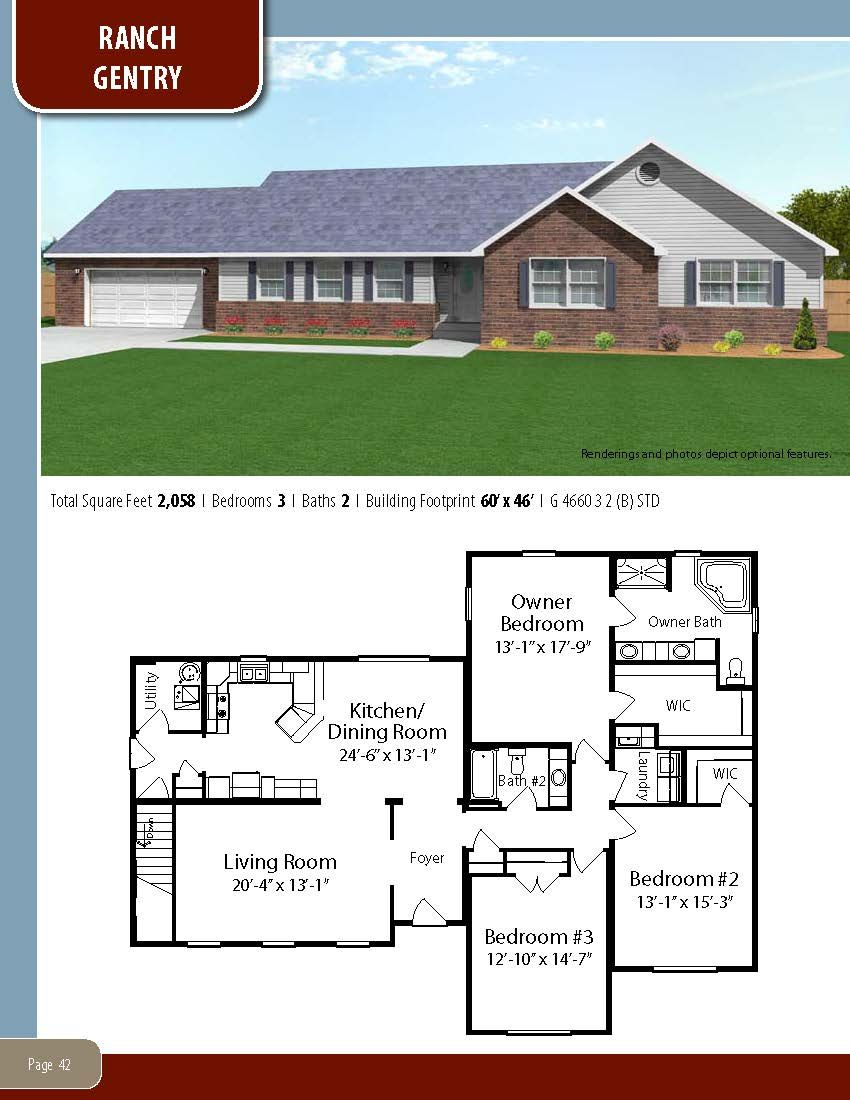 To Learn About Building Your New Home With All American Homes Visit Our Website At Www Allamericanhomes Com New House Plans Ranch House Plans Floor Plans