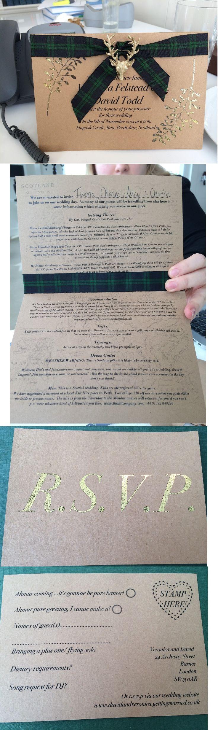 A Scottish Wedding Wedding Invitation Kits Gold Wedding Invitations Trendy Wedding Invitations