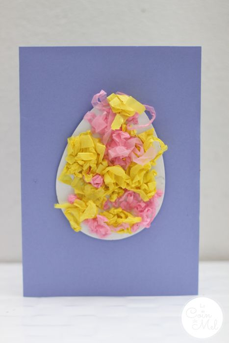 Quick Activities For Spring Easter Egg Card Tissue Paper And Easter