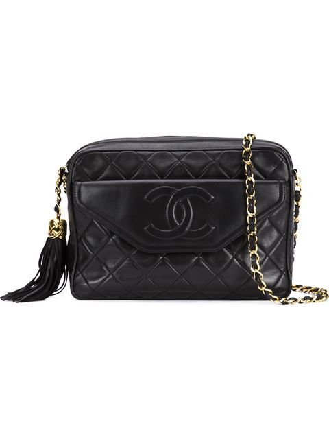 c863d2ad15f4 Shop Chanel Vintage front pocket shoulder bag in What Goes Around Comes  Around from the world s best independent boutiques at farfetch.com.