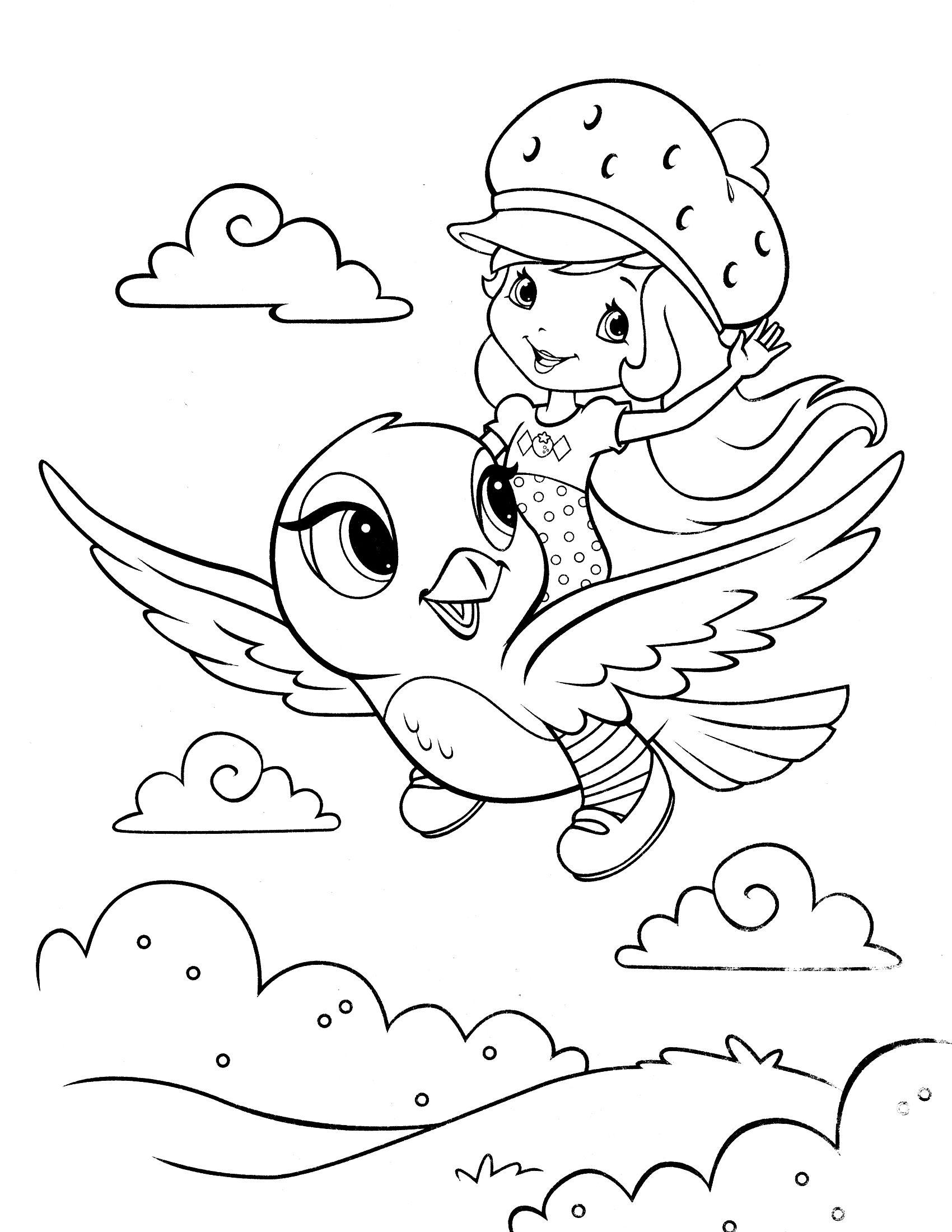 Strawberry Shortcake Coloring Page Con Imagenes Dibujos