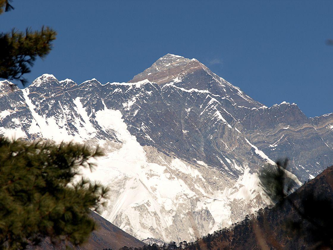 View on Mt. Everests peak (8850m.) - Nepal