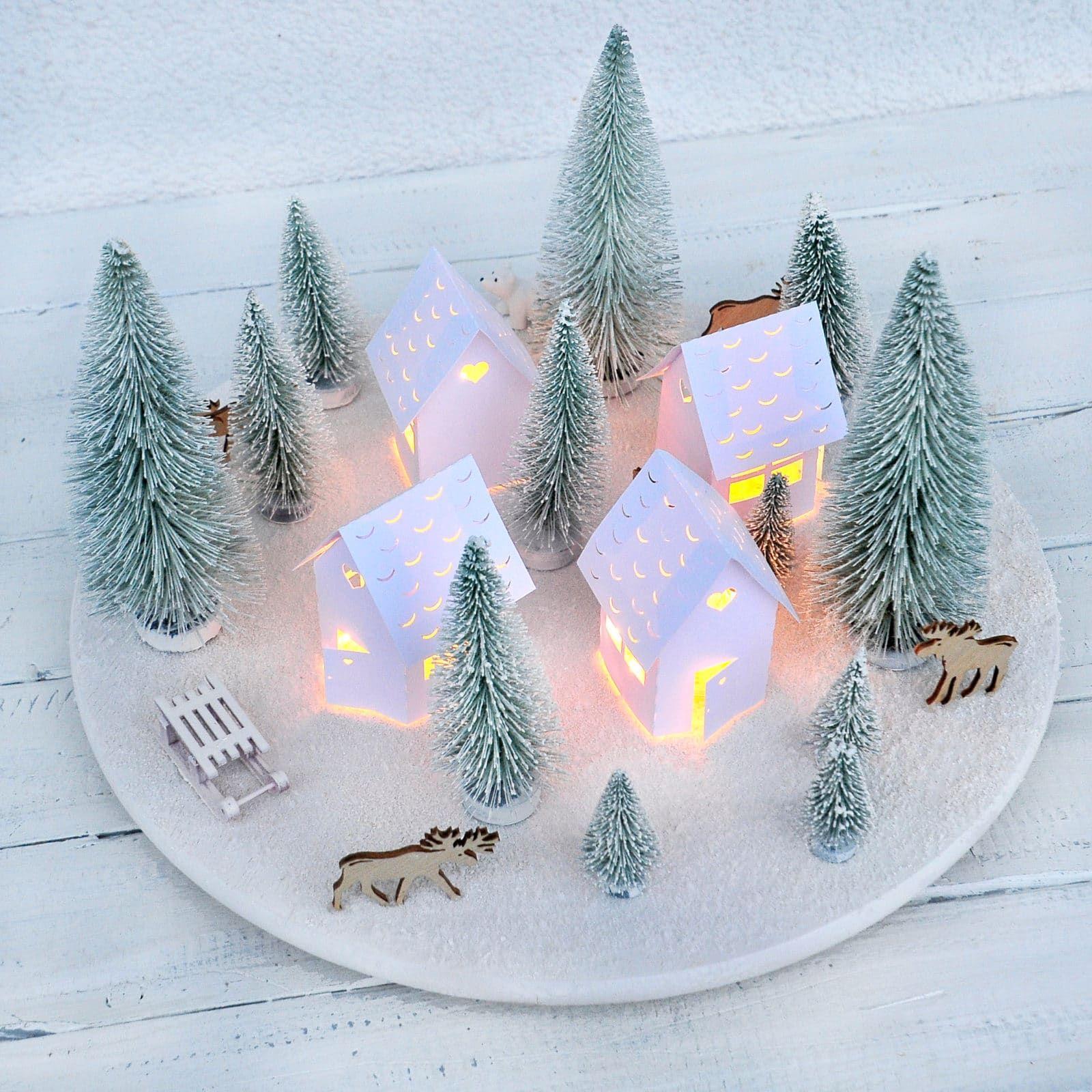 Skandinavisches Weihnachtsdorf - Adventskranz mal anders - HANDMADE Kultur